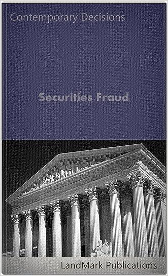 Securities Fraud (Securities Law Series) written by LandMark Publications