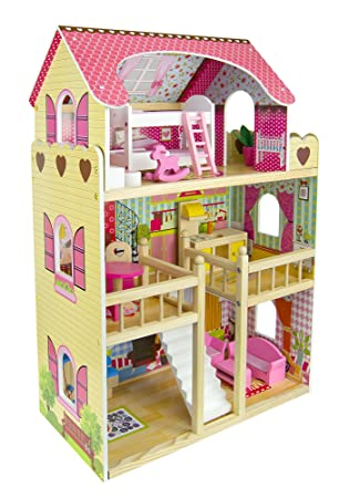 Royal Mansion Doll House Dimensions: 59 x 33 x 90 cm.