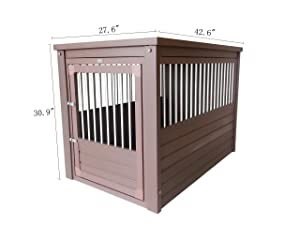 ecoFLEX Pet Crate/End Table (Color: Russet, Tamaño: X-Large)