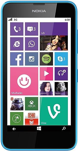 Microsoft Lumia 630 Smartphone débloqué Windows Cyan (import Allemagne)