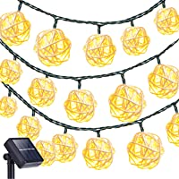 Oak Leaf 19.7 ft 30-LED Rattan Ball Fairy Lights