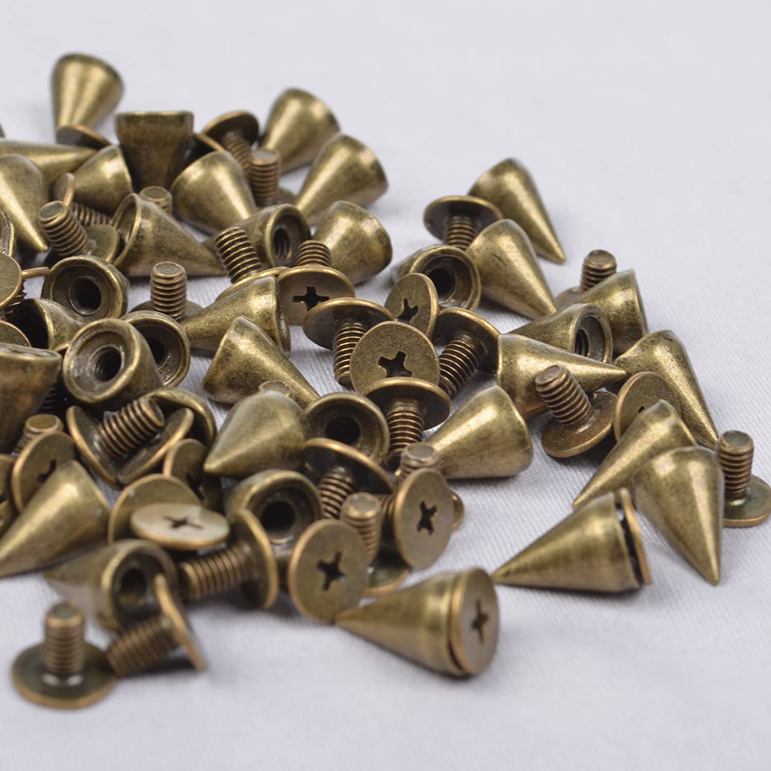 Bronze spikes with screw backs