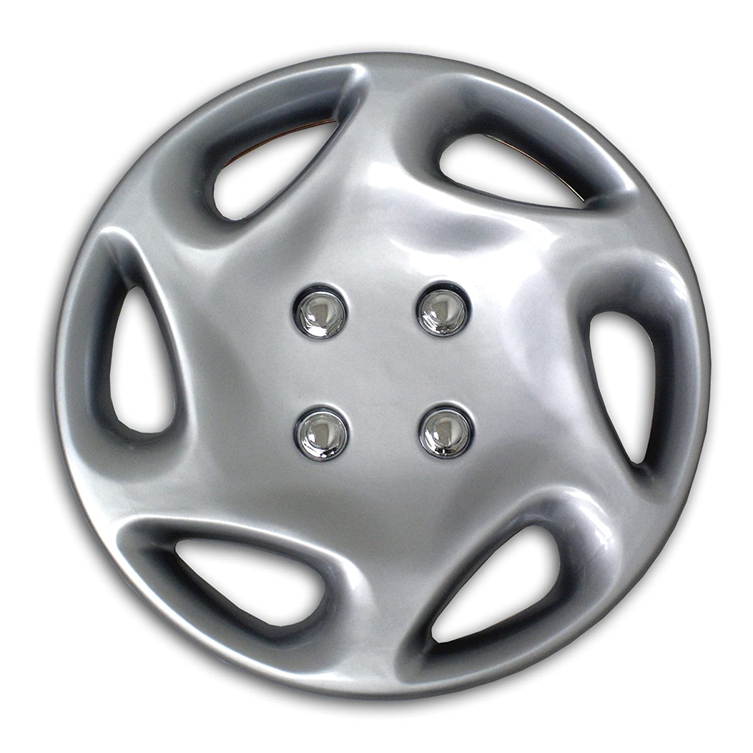 цена  TuningPros WSC2-018S14 Hubcaps Wheel Skin Cover Type 2 14-Inches Silver Set of 4  онлайн в 2017 году