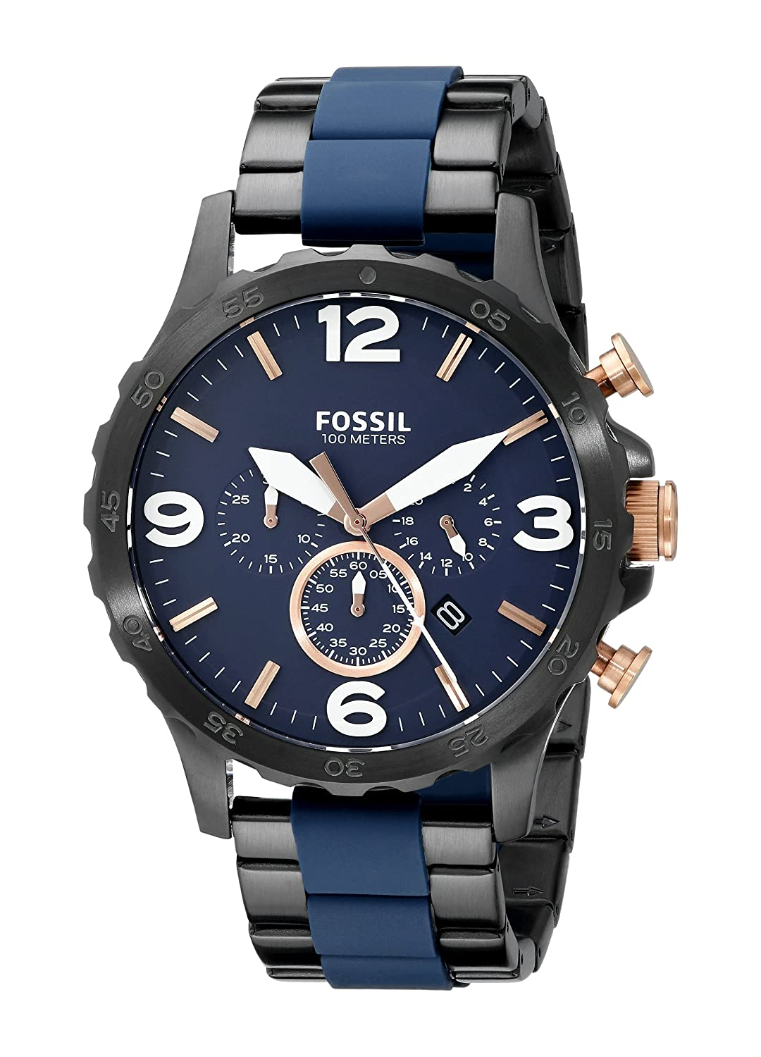 fossil watches buy fossil watches online at best prices in fossil nate analog blue dial men s watch jr1494