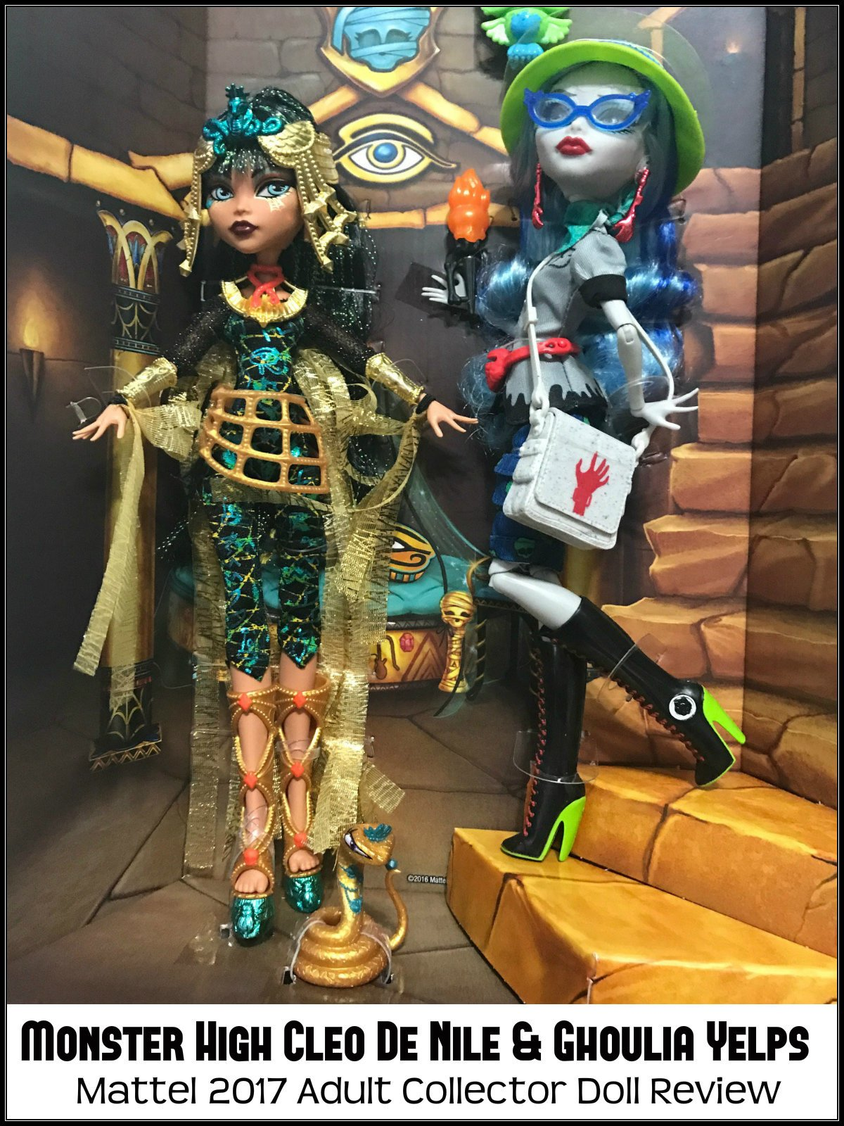 Review: Monster High Cleo De Nile & Ghoulia Yelps Mattel 2017 Adult Collector Doll Review on Amazon Prime Instant Video UK
