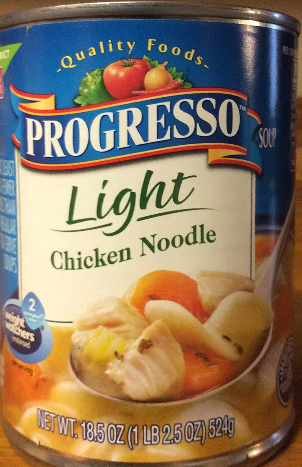 Progresso Light Chicken Noodle Soup 18.5oz Can (Pack of 5) read four bean salad can 15 oz  pack of 24