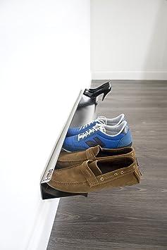 separation shoes 15c8a aaa9b Testbericht lesen   j-me JM2004120 Schuhregal für 7 Paar Schuhe,  wandbefestigt, Horiontal Shoe Rack, 120 cm lang, Edelstahl