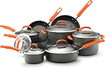 Rachael Ray 14-Pc Hard Anodized Cookware Set