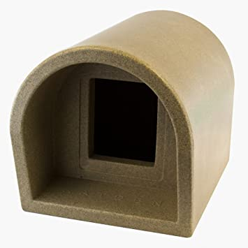 Desco engineering mr snugs niche d 39 ext rieur pour chat gris pierre - Niche pour chat exterieur ...