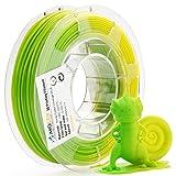 AMOLEN 3D Printer Filament, Temperature Color Change PLA Filament 1.75mm +/- 0.03 mm, 200G(0.44lb), Green to Yellow, includes Sample UV Color Change Filament - 100% USA (Color: Temp color change green to yellow, Tamaño: 200G)
