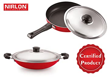 Nirlon Non Stick Coating Fry Pan Amp Appachatti With Lid