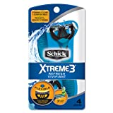 Schick Xtreme 3 Disposable Razors for Men with Refreshing Scented Handle, 4 Count (Tamaño: 4 Count)