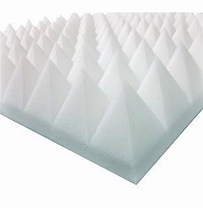 Akustikpur  6m²  24 St. ca. 49 cm x 49 cm x 6 cm  Weiß  Akustikschaumstoff,Pyramiden Akustik Schaumstoff,Akustik Dämmung, Tonstudio  BaumarktKundenbewertung und weitere Informationen