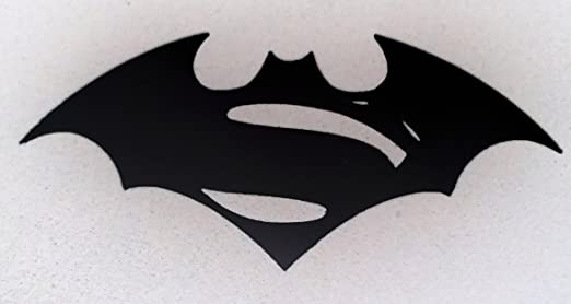 Superman Batman Logo Black And White Batman Superman Logo Black