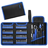Hautton Precision Screwdriver Set, 126 in 1 Magnetic Screwdriver Kit, Multi-function Professional Repair Tool Kit with Portable Oxford Bag for Phone, Laptop, PC, Watch, Electronics, and More -Black