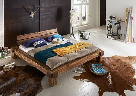 SAM® Massives Balkenbett Elke aus Akazie 200 x 200 cm