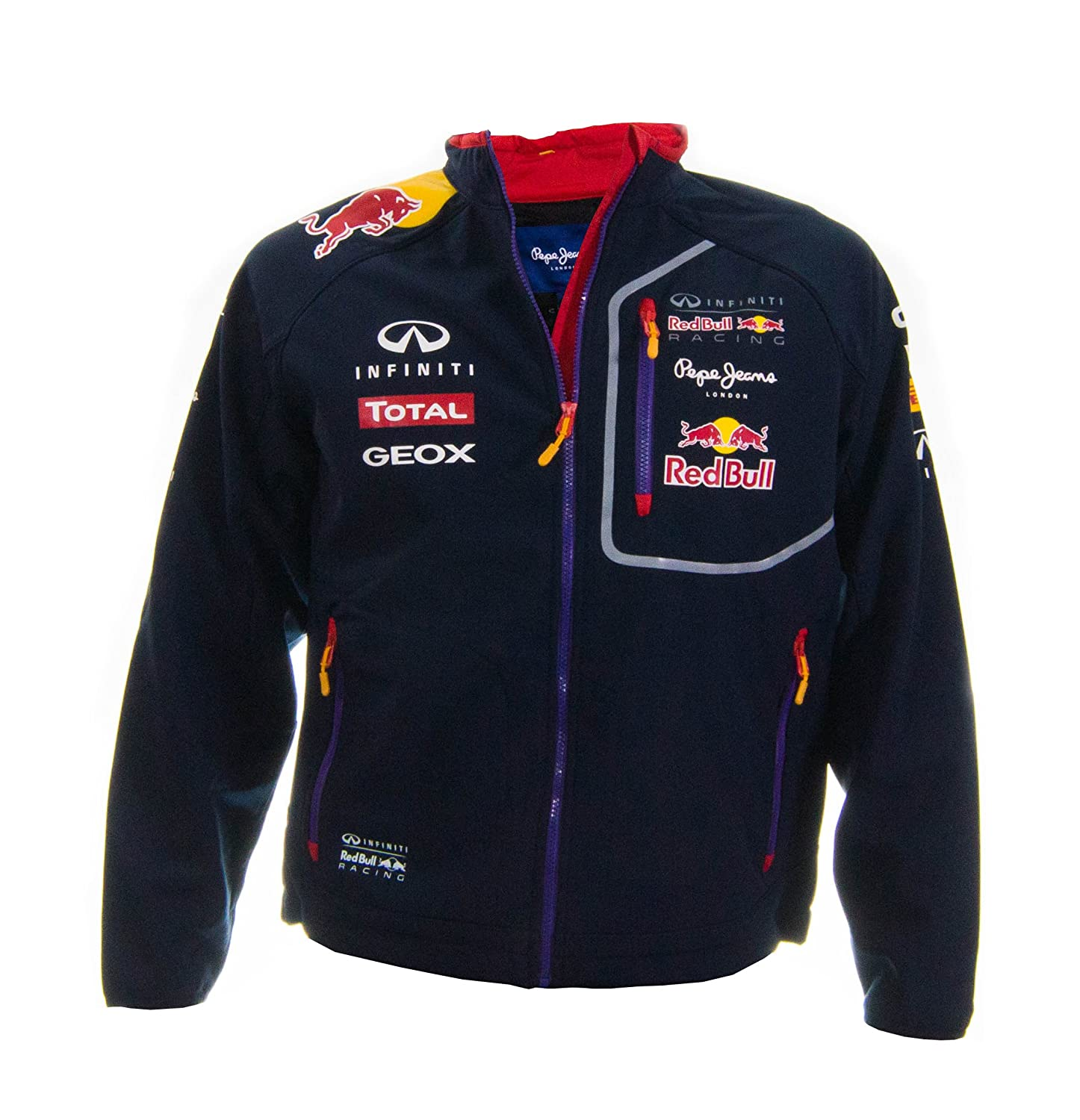 new mens pepe jeans infiniti red bull soft shell formula 1 motor racing jacket ebay. Black Bedroom Furniture Sets. Home Design Ideas