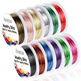 Anezus 12 Rolls Jewelry Wire Craft Wire Tarnish Resistant Beading Wire for Jewelry Making Supplies