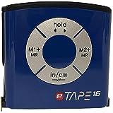 eTape16 Digital Tape Measure, 16 Feet, Inch & Metric - Blue 1-Pack (Box Packaging) & Zonoz Microfiber Cleaning Cloth Bundle (Color: Blue 1-Pack (Box Packaging), Tamaño: Inch/Metric)