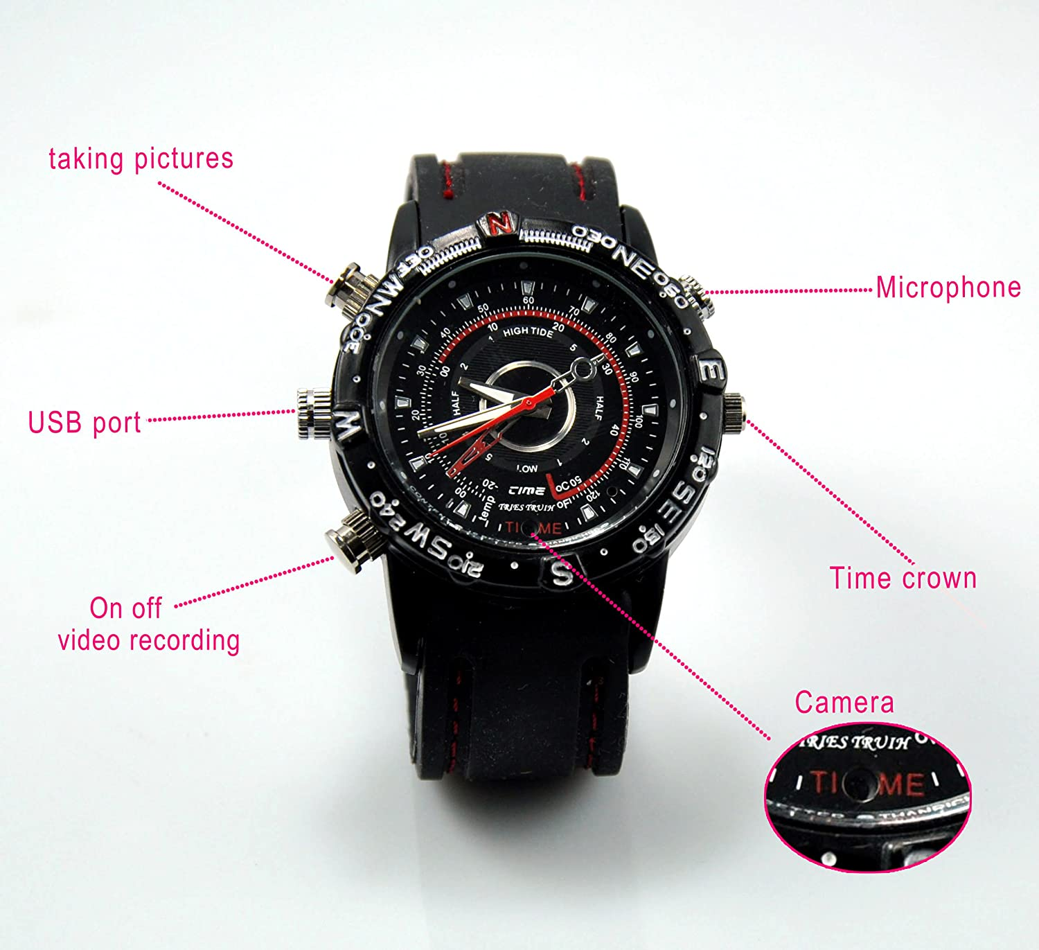 Đồng hồ tích hợp Camera Mini HD Waterproof Camera Watch Video Recorder