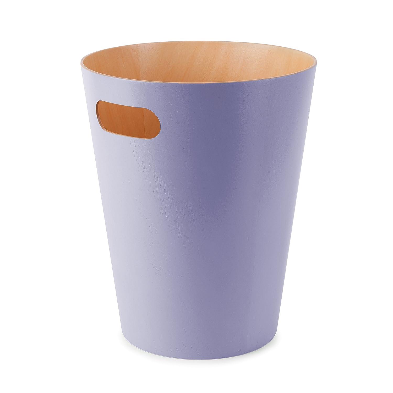 Umbra 082780-322 Cans und Bins Woodrow Mülleimer mit Griff, Abfalleimer, Müllsammler, Papierkorb, Gebeiztes Holz, lavendel jetzt bestellen