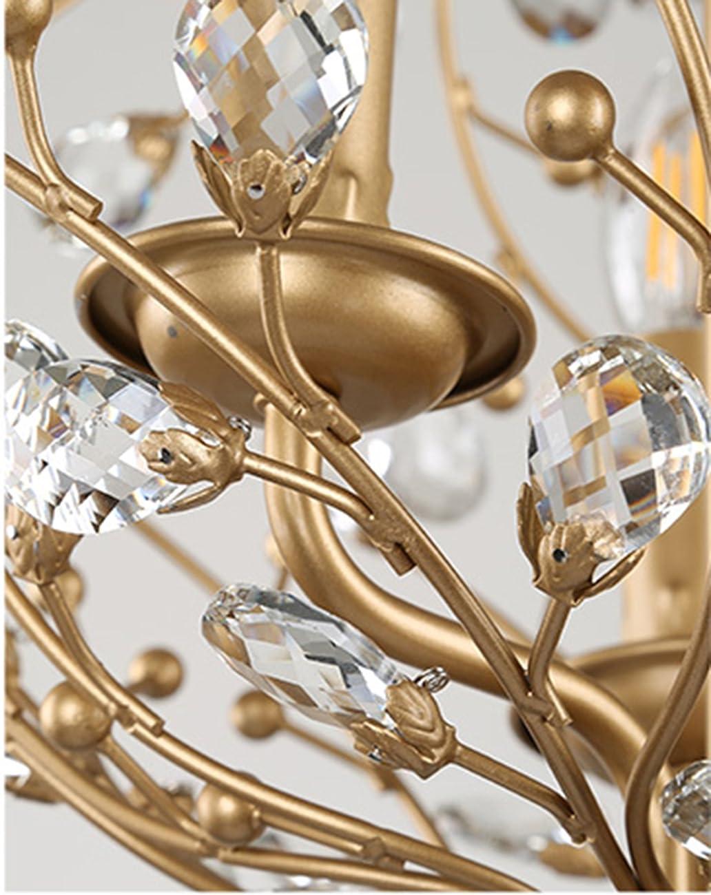 Garwarm Vintage Chandelier 3 lights Antique Pendant light Home Ceiling Light Fixtures Chandeliers Lighting,Golden 6