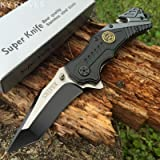 Snake Eye Tactical Sniper Rescue Style Assisted Opening Knife with Clip (Color: Sniper)