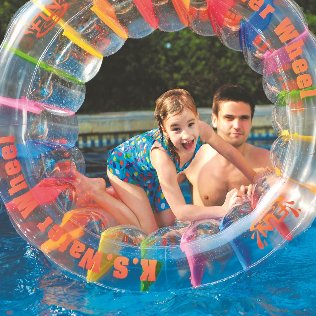 The Inflatable Giant Water Wheel Water Float Toy Relax For Swimming Pool Beach Ebay