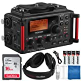 Tascam DR-60DmkII 4-Channel Portable Recorder for DSLR with Deluxe Accessory Bundle and Cleaning Kit (Tamaño: Basic)