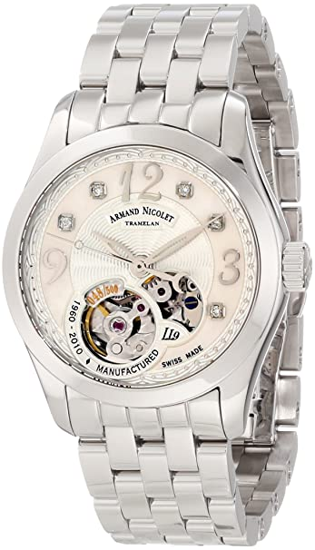 Armand Nicolet Women's 9653A-AN-M9150 LL9 Limited Edition Stainless Steel Classic Automatic Watch