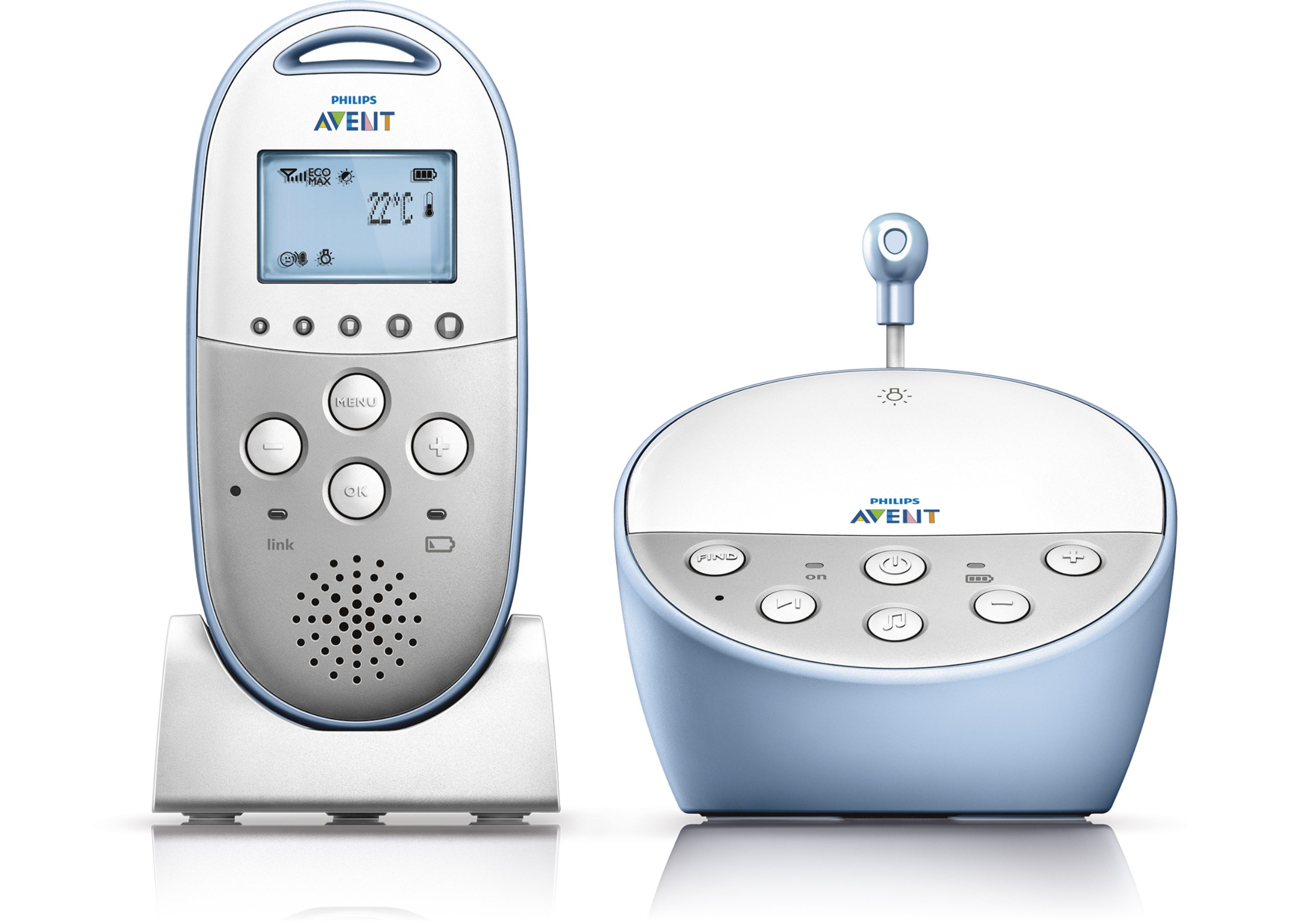 philips avent dect baby monitor with temperature sensor night mode new ebay. Black Bedroom Furniture Sets. Home Design Ideas