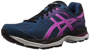 asics women's gel-nimbus 17 running shoe mosaic blue/onyx/pink glow