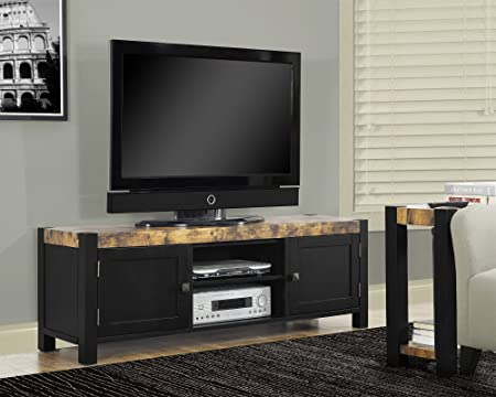 "Distressed Reclaimed-Look/Black 60""L TV Console"