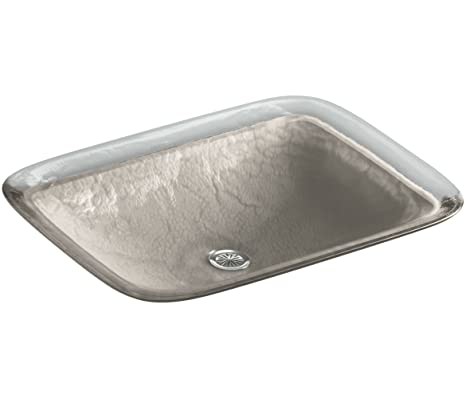 KOHLER K-2773-G3-B11 Inia Wading Pool Glass Drop-In Rectangular Bathroom Sink, Opaque Doe