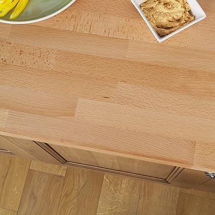 Solid Beech Timber Block Worktops 4000mm x 720mm x 40mm