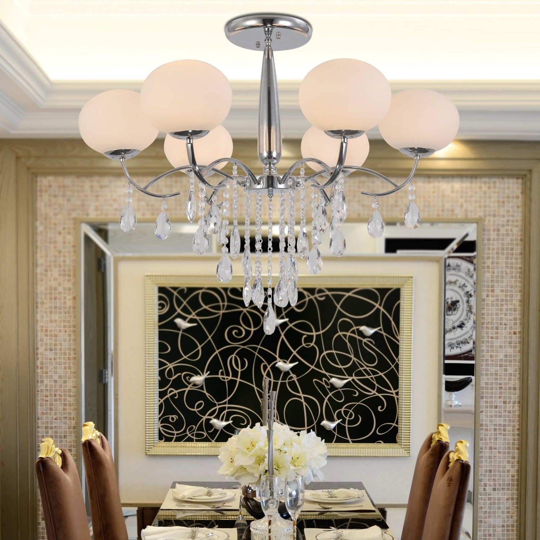 OOFAY LIGHT® Einfache und elegante Kristall-Lampen 6 Schlafzimmer Wohnzimmer Kristall-Kronleuchter Kristall-Kronleuchter Kristall-Kronleuchter Restaurant