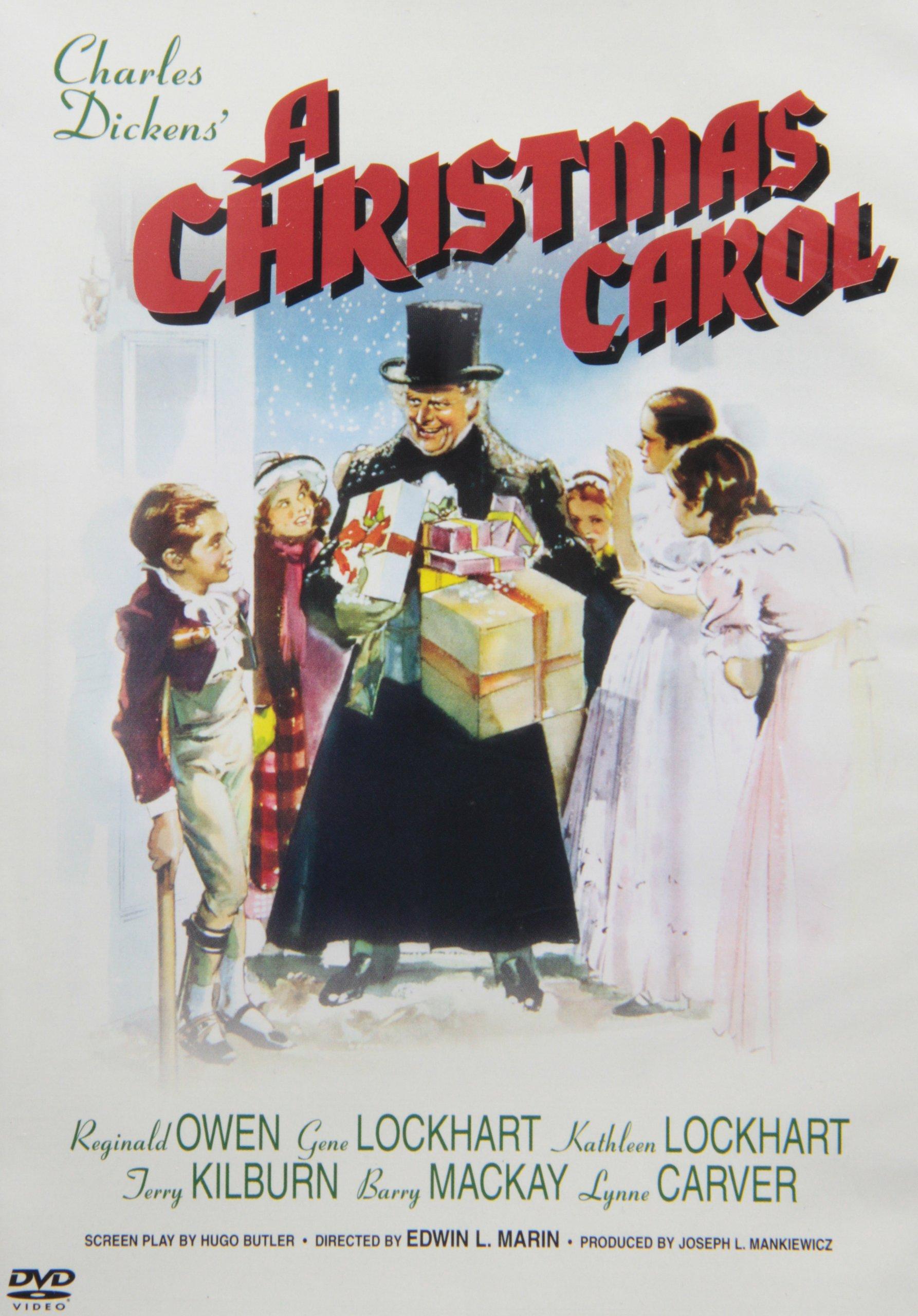 Charles Dickens A Christmas Carol 1938 Holiday DVD Gene Lockhart ...
