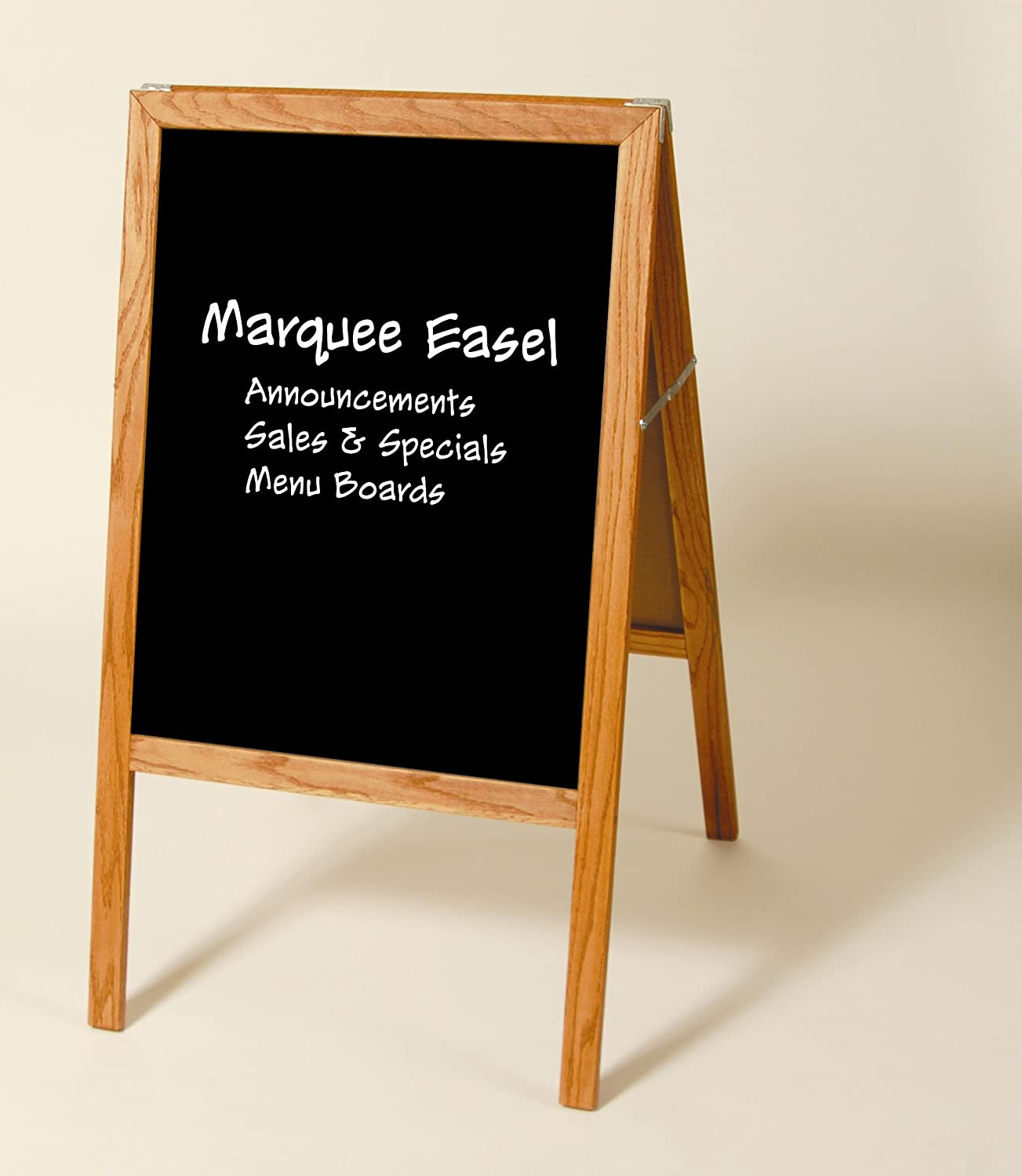 Folding Two-sided Marquee Stained Wood Easel