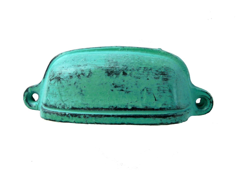 Möbelgriff Metall Apothekerschrank türkis grün ANTIK günstig bestellen