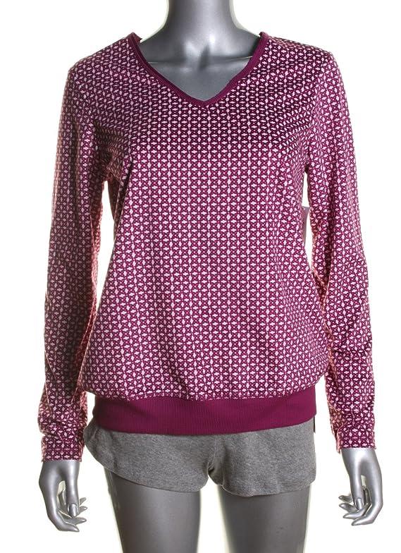 Nautica Women Sleepwear Baby Fleece Top Seaberry Sizes XXL