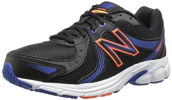 New Balance Men's M450V3 Running Shoe, Black/Blue/White, 11.5 D US