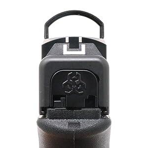 MakerShot 3D Aluminum Slide Cover Plate - Glock 17-41 Gen 1-4 (Biohazard) (Tamaño: Glock 17-41)