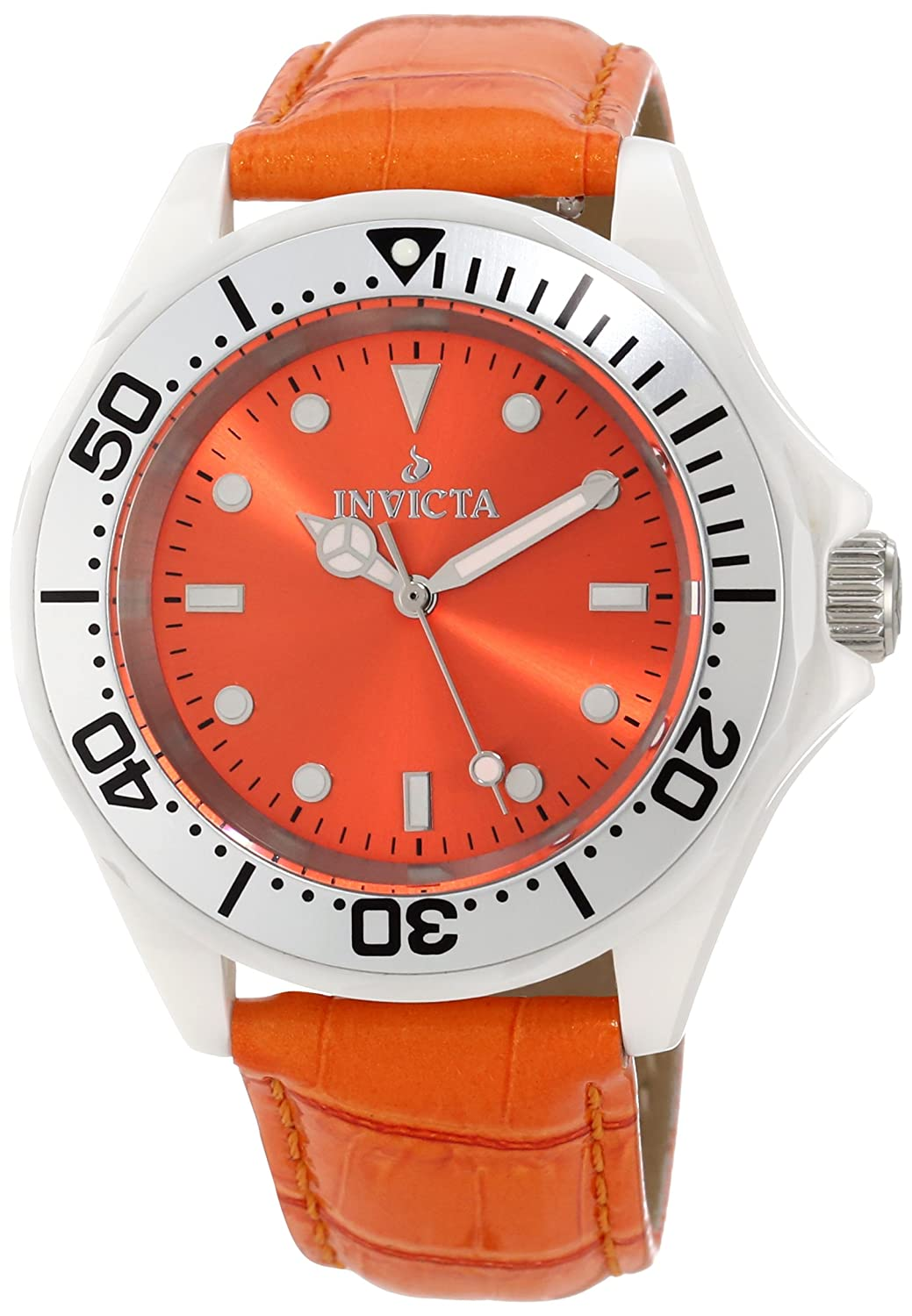Женские наручные часы Invicta Women's 11297 Ceramic Orange Dial Interchangeable Strap Watch