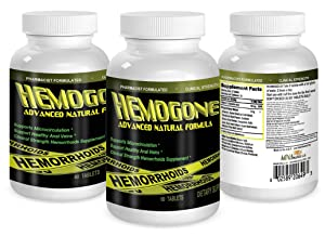 HEMOGONE Natural Hemorrhoid Treatment and Pain Relief Pills (Clinical Strength 1600Mg).