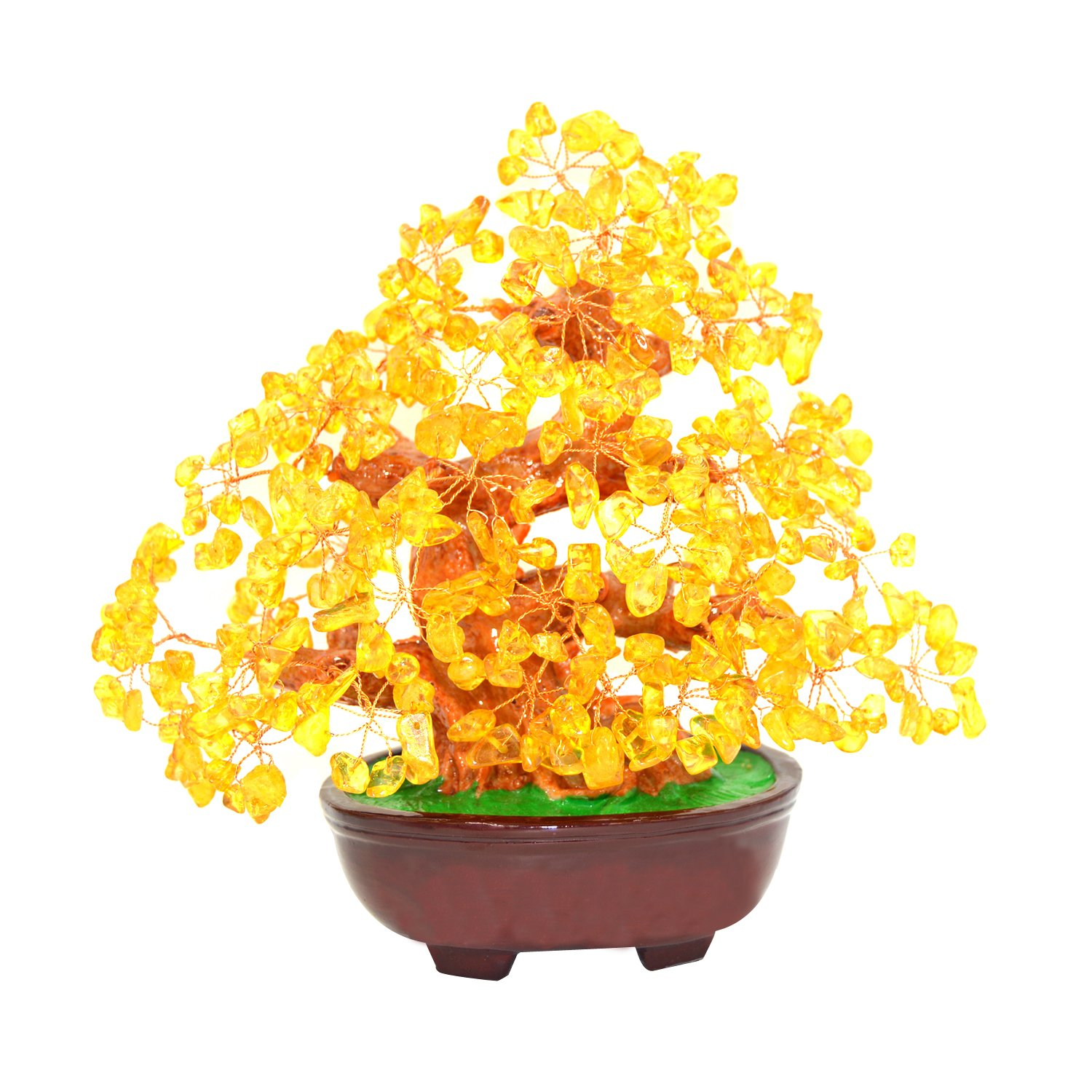 Feng Shui Natural Citrine Gem Stone Money Tree 9 Inch Yellow Crystal Money Tree feng shui natural citrine gem stone money tree 9 inch yellow crystal money tree