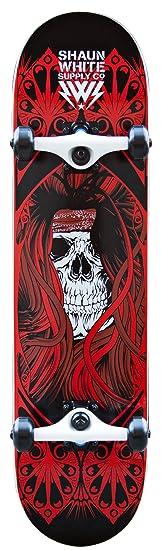 Shaun White Supply Co. Park Skull Skateboard complet