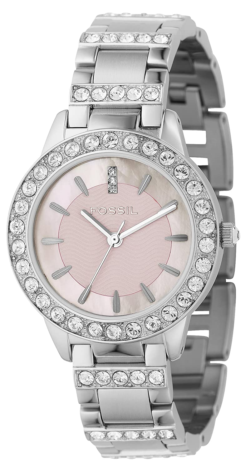 Đồng hồ Fossil Womens ES1967 Stella Day/ Date Display Quartz White Dial Watch