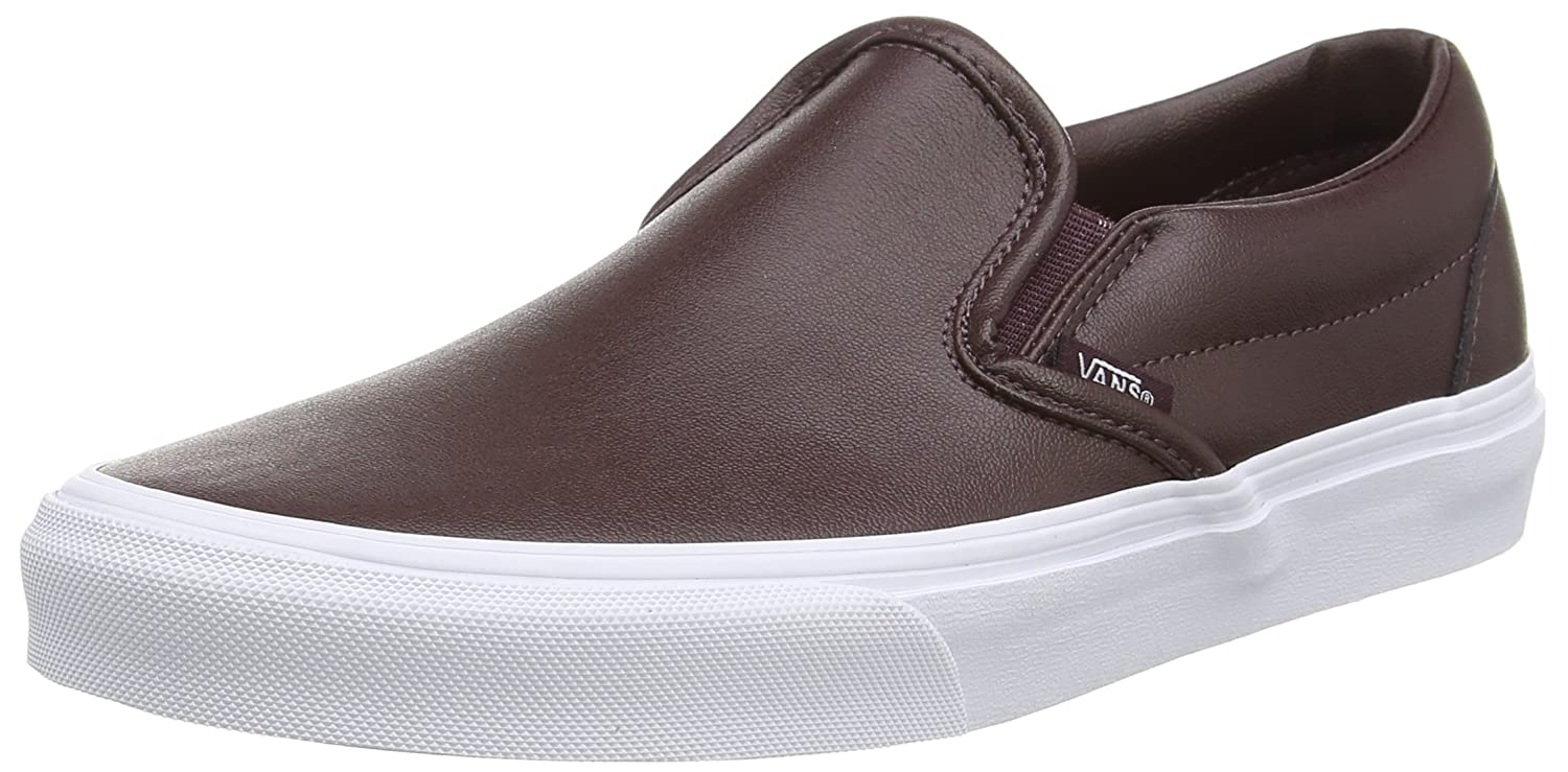 0fa36927b0 Vans Unisex Classic Slip-On (Leather) Burgundy Casual Shoe 8.5 Men US ...