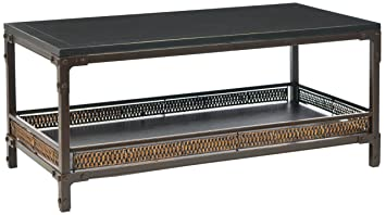 Safavieh Dinesh Coffee Table, Dark Walnut/Black