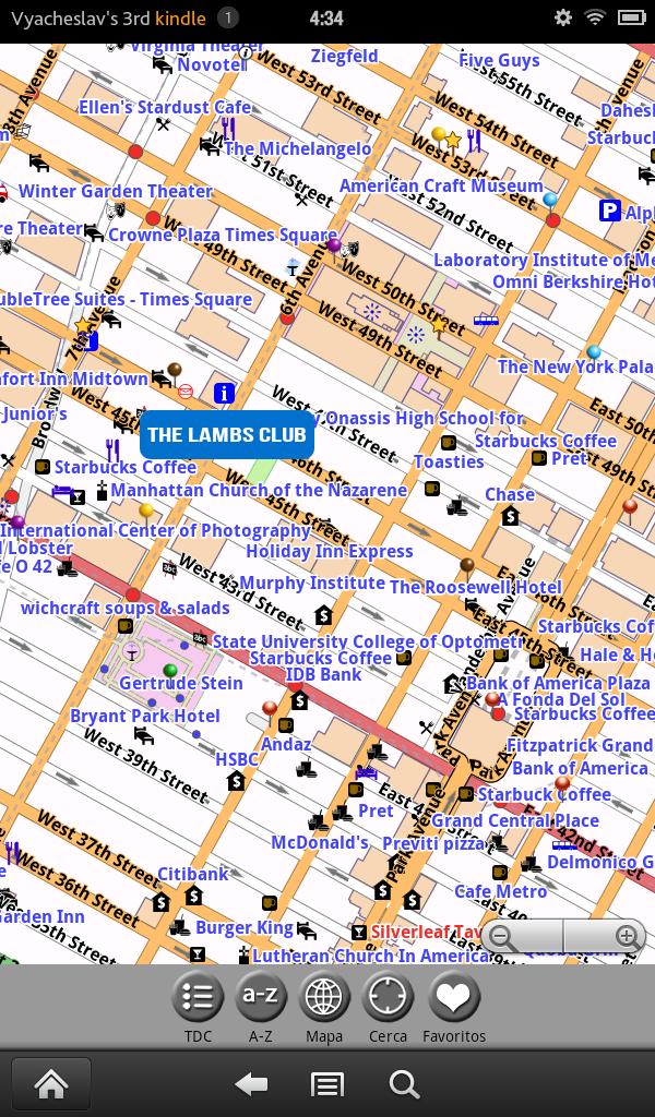 Amazon.com: Nueva York: guía y mapa (GRATIS): Appstore for
